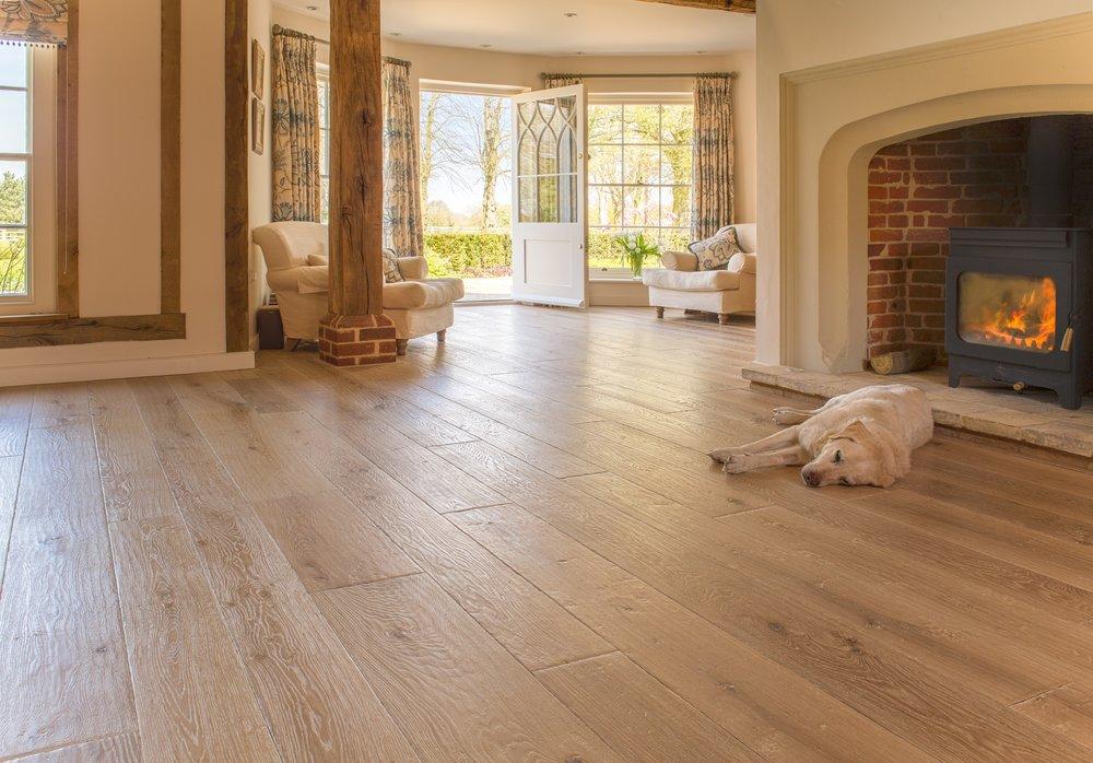 Wide oak floors