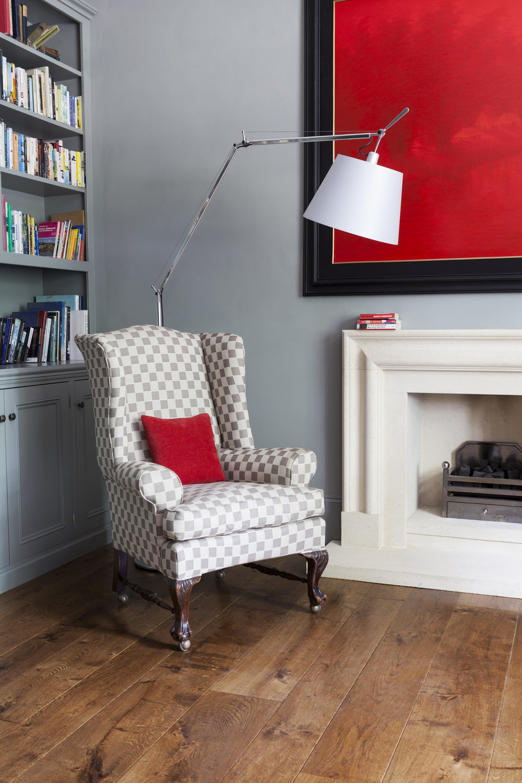 Library easy chair Original weathered real  limed oak flooring.jpg