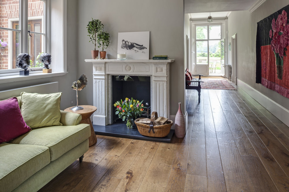 fireplace Aged real wood flooring.jpg
