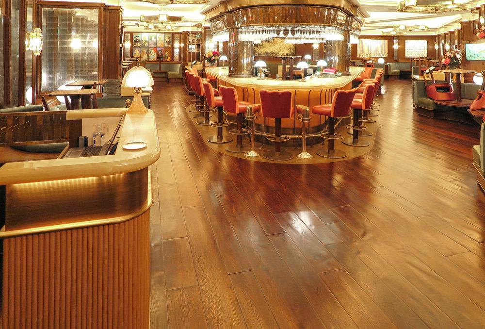 Wide oak flooring