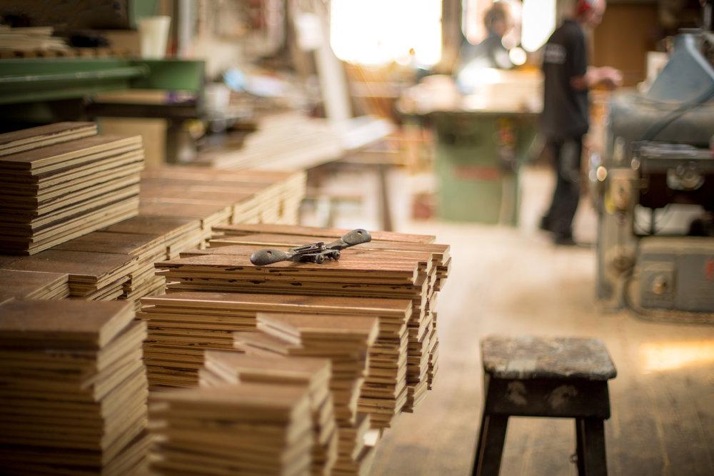 Handmade rustic oak boards