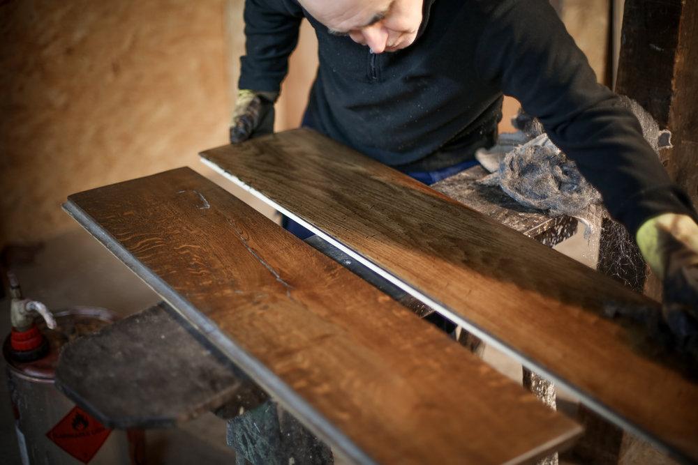 Handcrafted bespoke engineered oak flooring