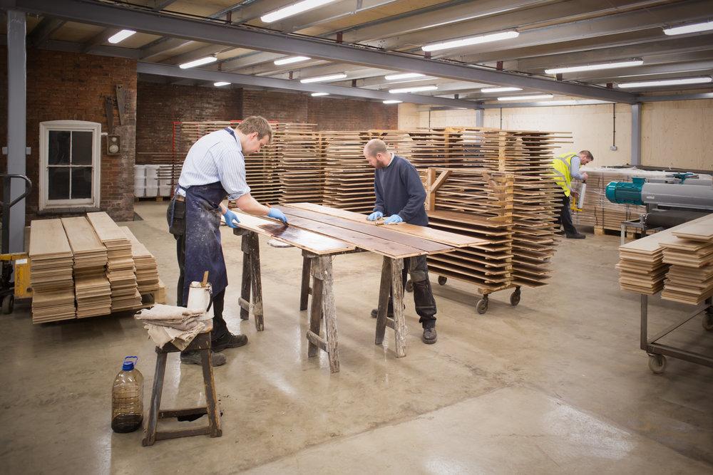 Handcrafted oak floors