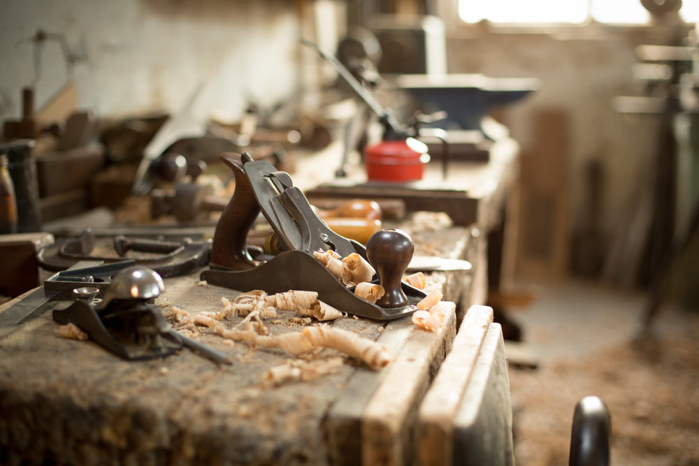 Handcrafted wide oak flooring