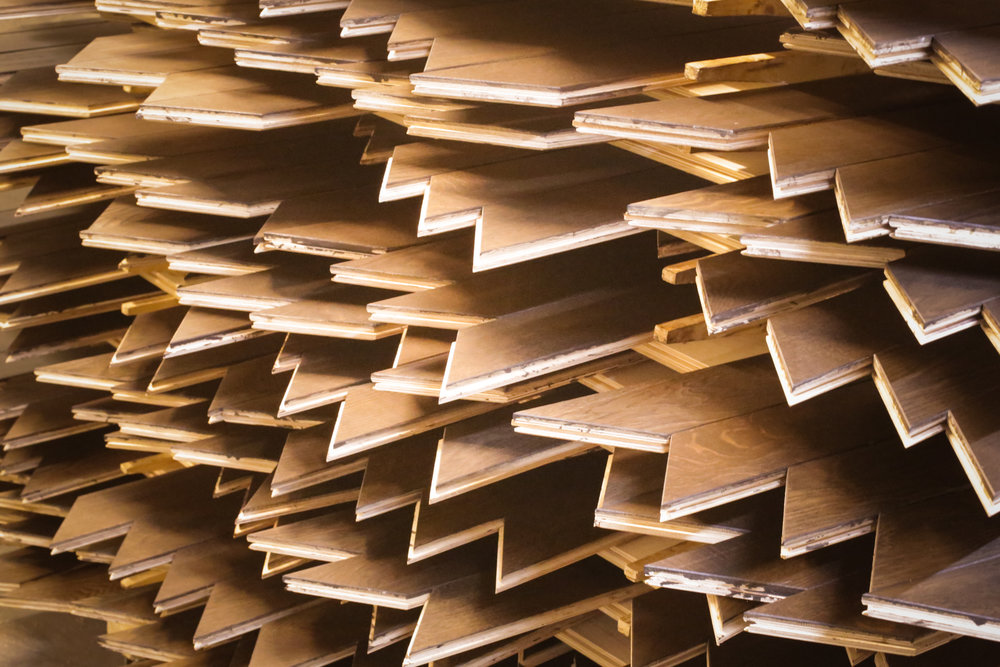 Handmade weathered wood flooring