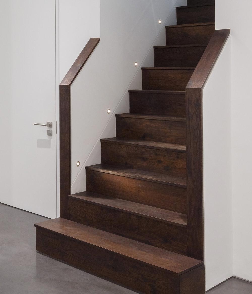 Dark oak staircase