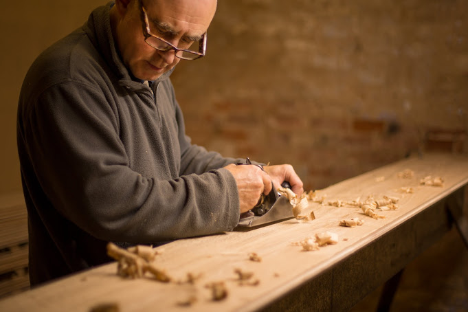 We hand plane boards with an expert eye.  Handcrafting floorboards  this way means we can make sure quality is never compromised.