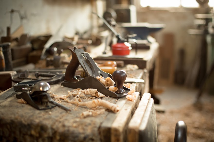 Handplaneing oak boards is an artform. Every craftsman must look after their tools.
