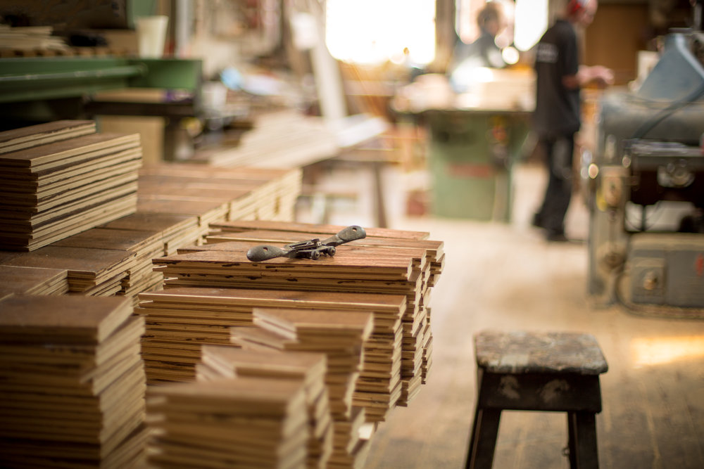 Charles Lowe and Sons have many years of experience in the workshop and can offer invaluable advice on bespoke flooring.  Versailles panels  production.