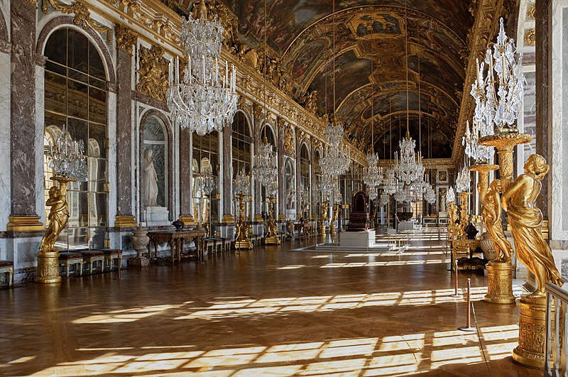 This classical Panel design was first made famous by the Palace of Versailles France. The Hall of Mirrors, the most famous room in the Palace.