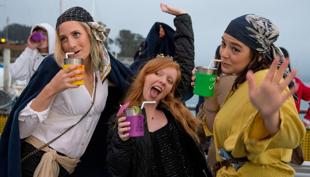 Pirates & Mermaids - June 15th, 2019 7-8:30pm Calling all pirates and mermaids to cruise the bay for an evening of getting the landlubbers out on the water! One of our annual favorites.
