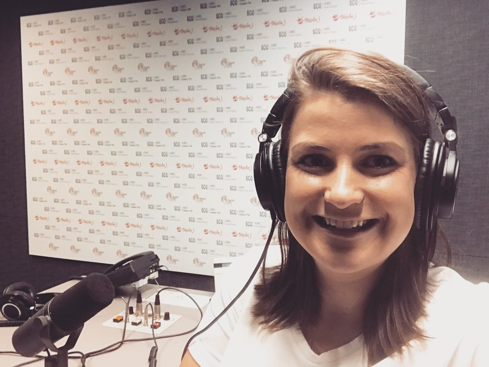 Alana in the studio for Triple J Hack, 24 October 2017