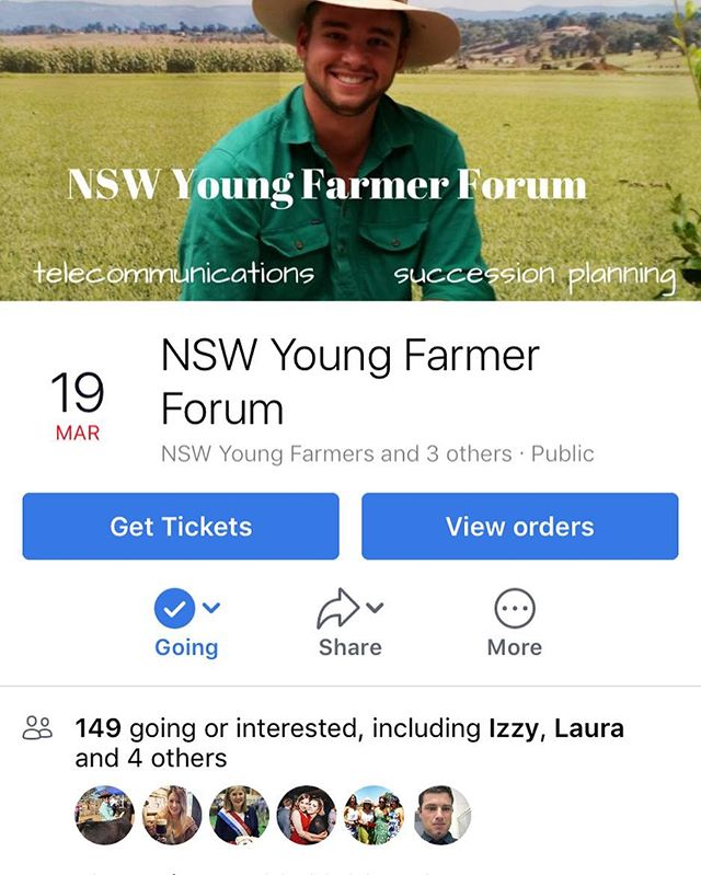On Monday @fledglingfarmers will be presenting at the #nswyoungfarmers Forum in Bathurst! It's a free event with presentations on business finance, telecommunications and #succession! 👩🏻🌾🚜