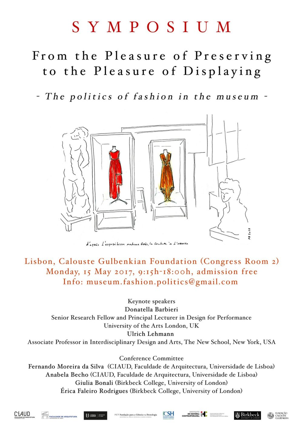 Symposium - From the pleasure of preserving to the pleasure displaying | The Politics of fashion in the MuseumPresenting the paper: Fashion in the expanded field: situating interdisciplinary fashion practices in the museum in the 21st century