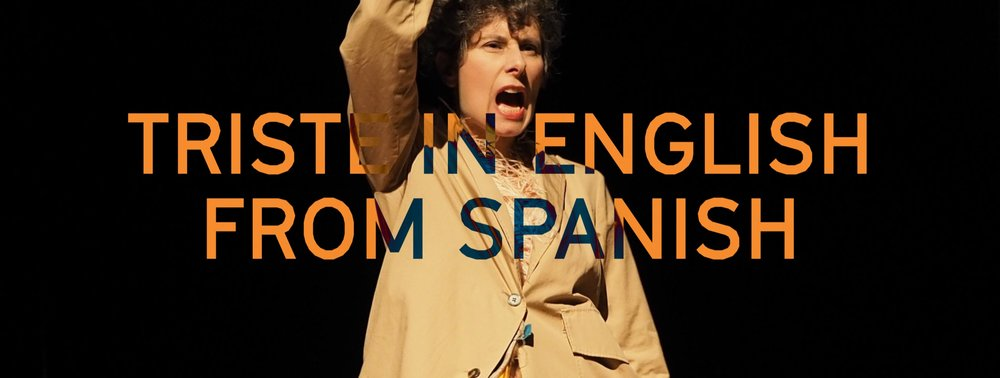 TRISTE IN ENGLISH FROM SPANISH - Main Auditorium CULTURGEST 24/25/26 November 2017 18/19/20 January 2019