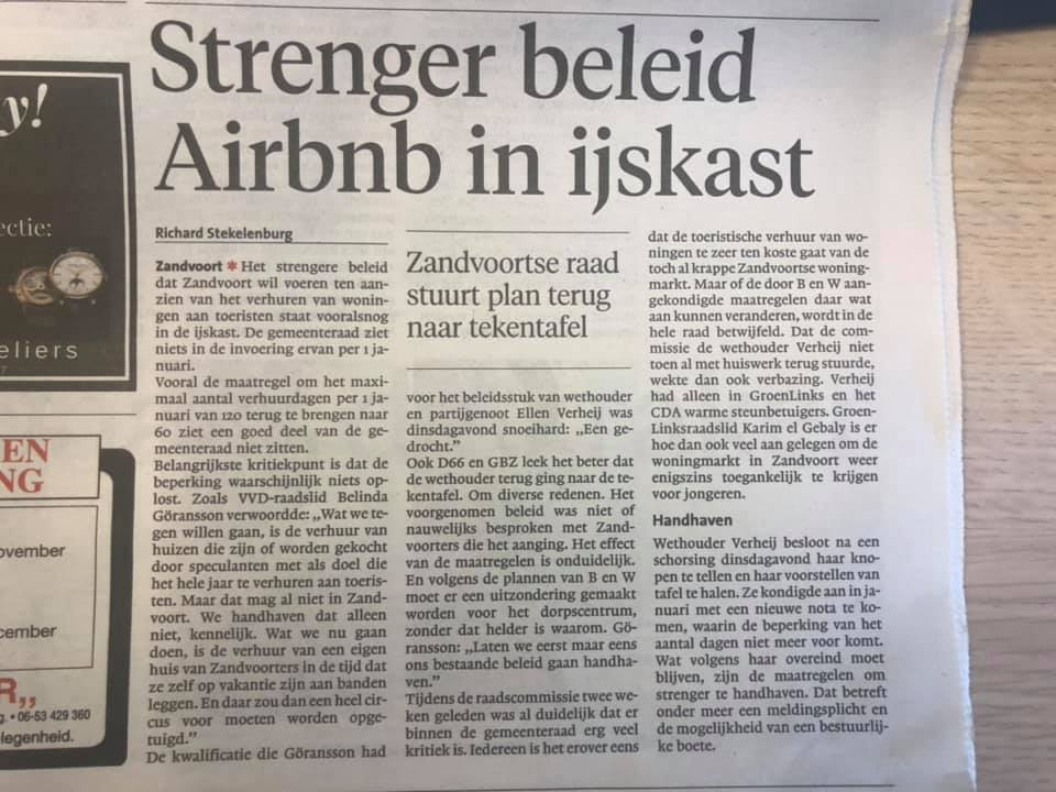 Haarlems Dagblad 22-11-2018, Richard Stekelenburg