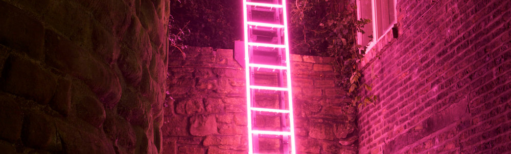 andthen-studio lumiere london neon ladder light