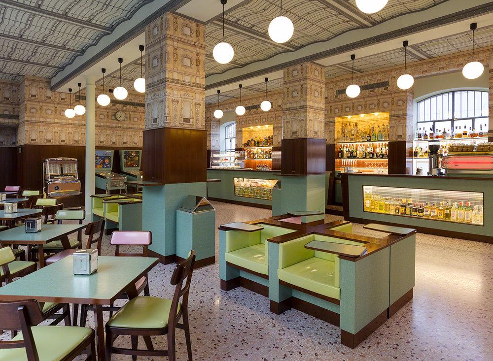 Wes Anderson Cafe milan design week