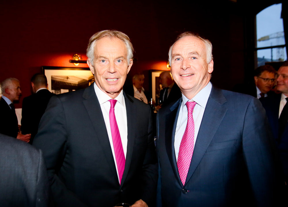Tony Blair with hotelier John Fitzpatrick