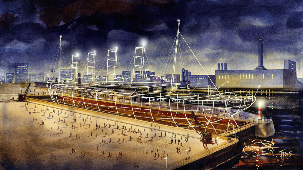 """The """"Ghost Ship"""" proposal for Titanic Quarter"""