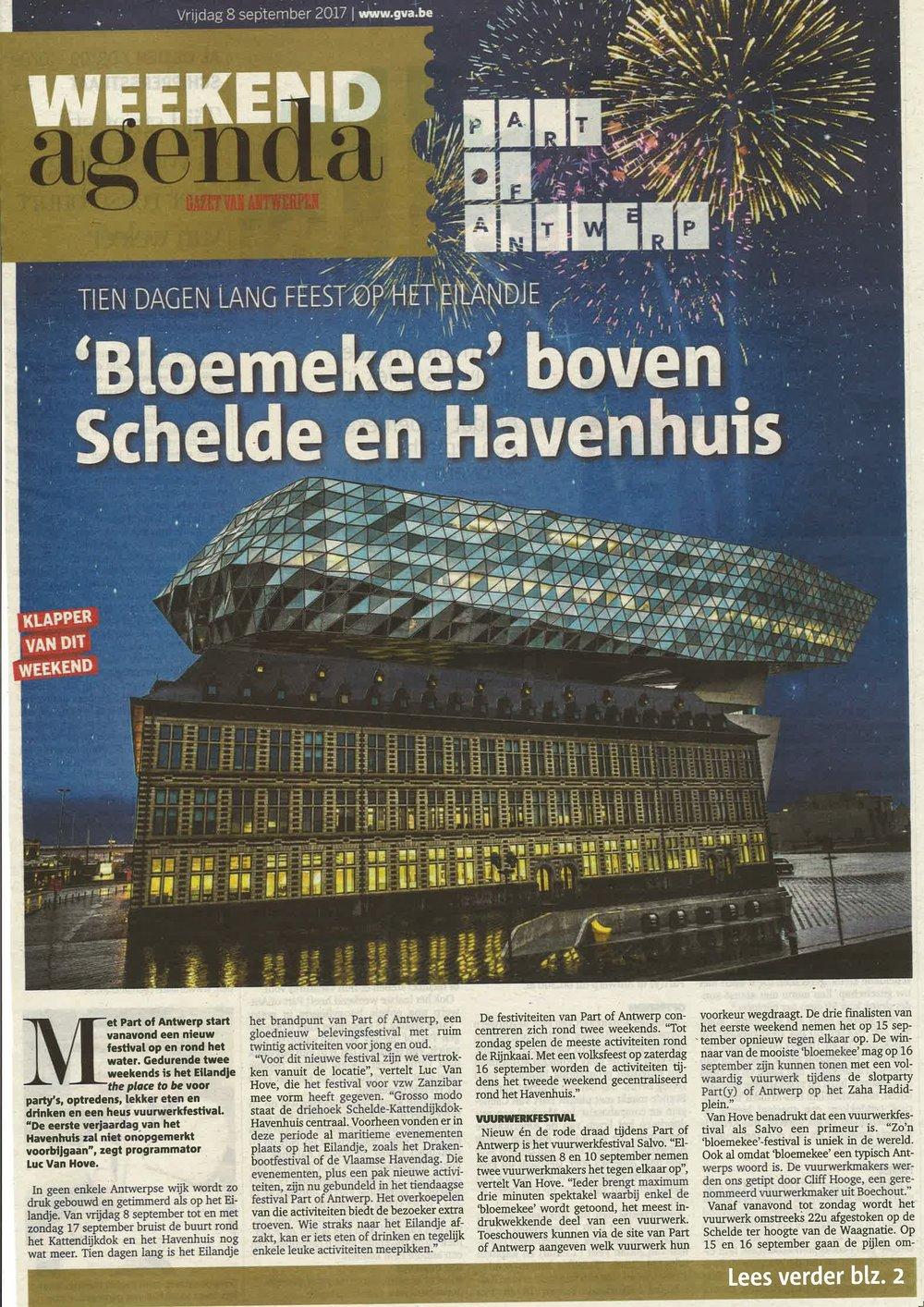 Gazet van Antwerpen - 2017.09.06