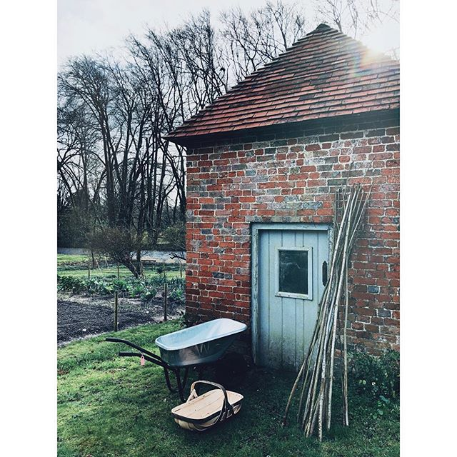 Shiny new barrow and supersized trug for my birthday... obvs starting to show my age #giftsforlife #sussextrugs #madeinengland #growyourownfood