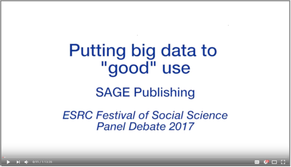 "Full discussion:  Putting big data to ""good"" use"