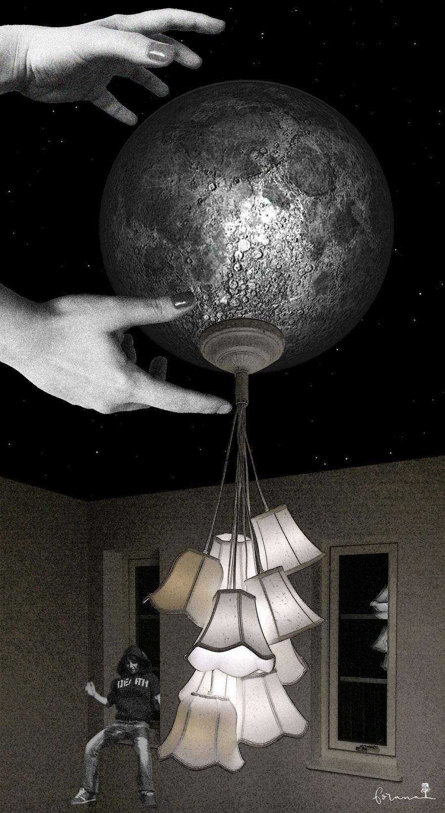 Mann im Mond -