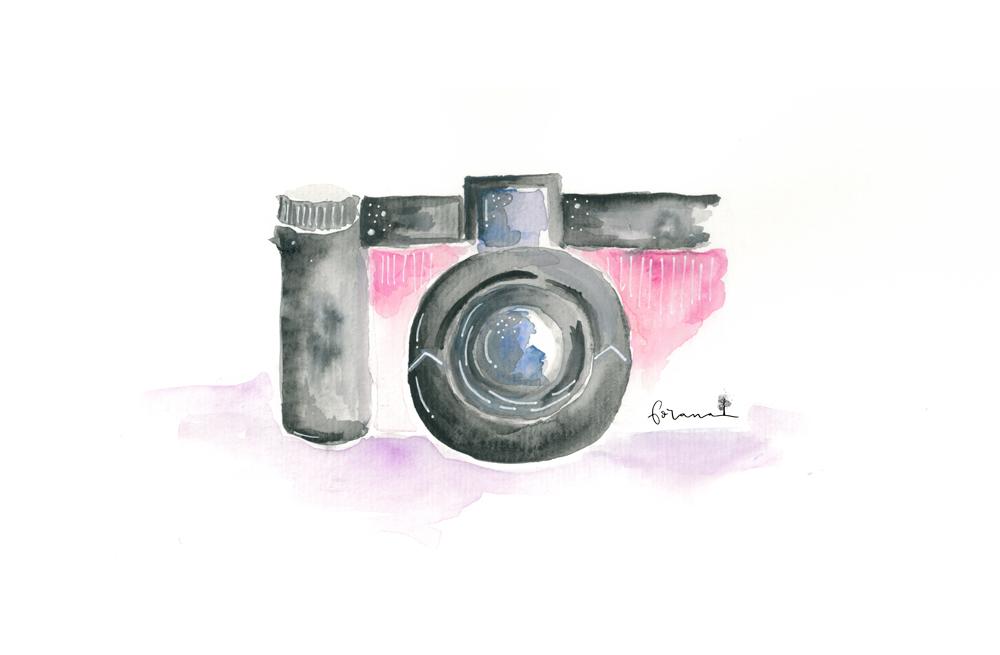 Klick! - Fotoapparat---Minimal Watercolor Design