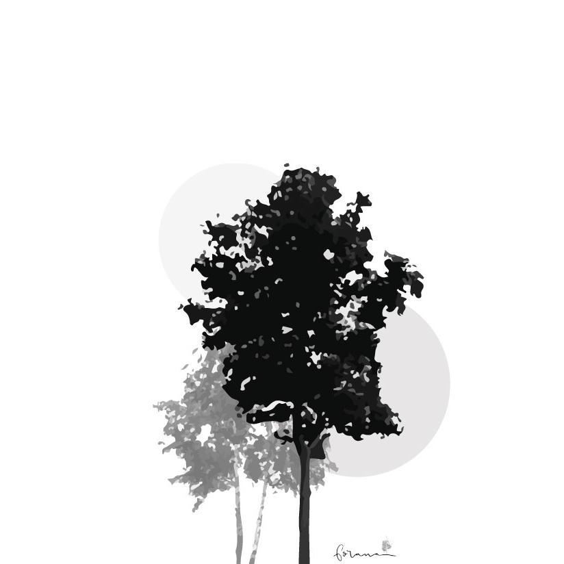 Baumdesign - Schwarz-Weiss