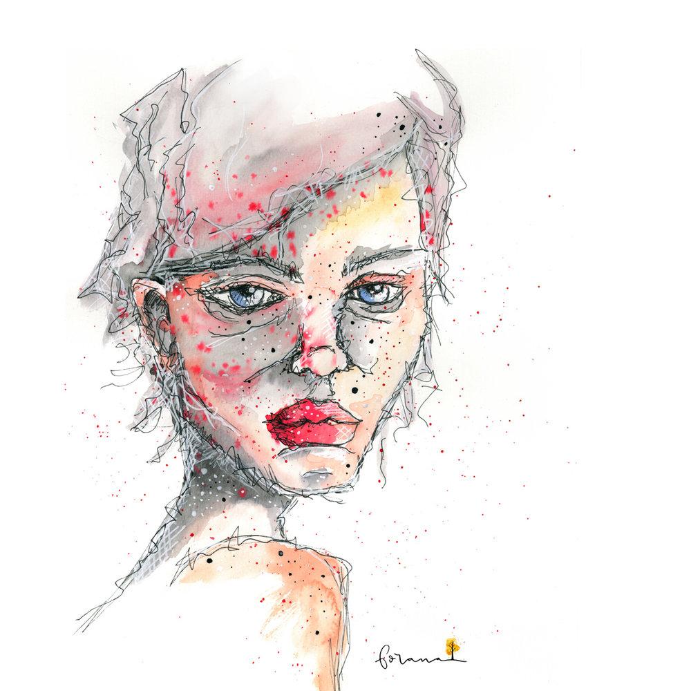 Ich kann auch ... - anders, als nur niedlich---Watercolor Design