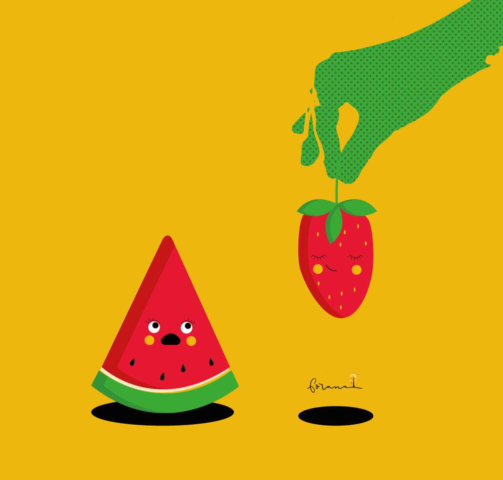 Die Erdbeere - ist dann doch eine zu große Konkurrenz