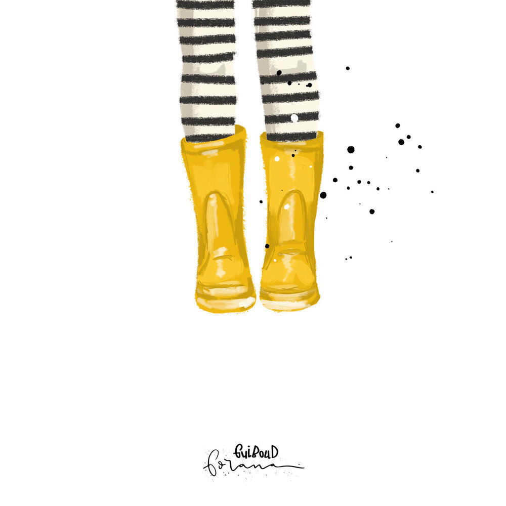 Gelbe Gummistiefel - ---Photoshop am iPad mit Apple Pencil