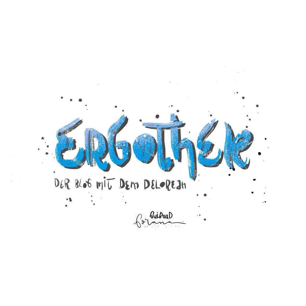 """ERGOThek - Der Blog mit dem DeLorean.Ich bin ja nicht nur Illustratorin, ich mache auch ein paar andere Sachen. Eine davon ist Bloggen, und zwar über Filme. Mein Blog, die ERGOThek (ergothek.com) gibt es schon seit 2012. Seit dem sind wir, mal mehr mal weniger, ein Herz und eine Seele.Der DeLorean ist seit Anbeginn das Blogs sein Logo. Dem einen oder anderen wird er aus den Film """"Zurück in die Zukunft"""" bekannt sein. Und genau dieser Film (diese Filme) ist und bleibt für immer mein Lieblingsfilm. Ich liebe den DeLorean. Und nicht nur, weil er durch die Zeit reisen kann, sondern weil er das schönste Auto der Welt ist. In Wirklichkeit ist seine Karosserie nicht blau lackiert, sondern aus gebürstetem Aluminium..Jedenfalls hat ERGOThek endlich ein neues Logo, einen neuen Schriftzug und einen neuen Banner. Ein kleines Geschenk dafür, dass ich ihn so sehr vernachlässigt habe. Eine Kleine Auftragsarbeit quasi, für mich selbst.---Das Auto: Aquarell und FinelinerSchriftzug: Photoshopam iPad mit Apple Pencil"""