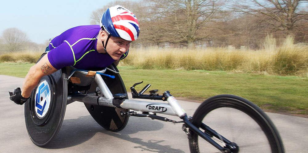 David Weir, six-time Paralympic champion & seven-time London Marathon winner. -