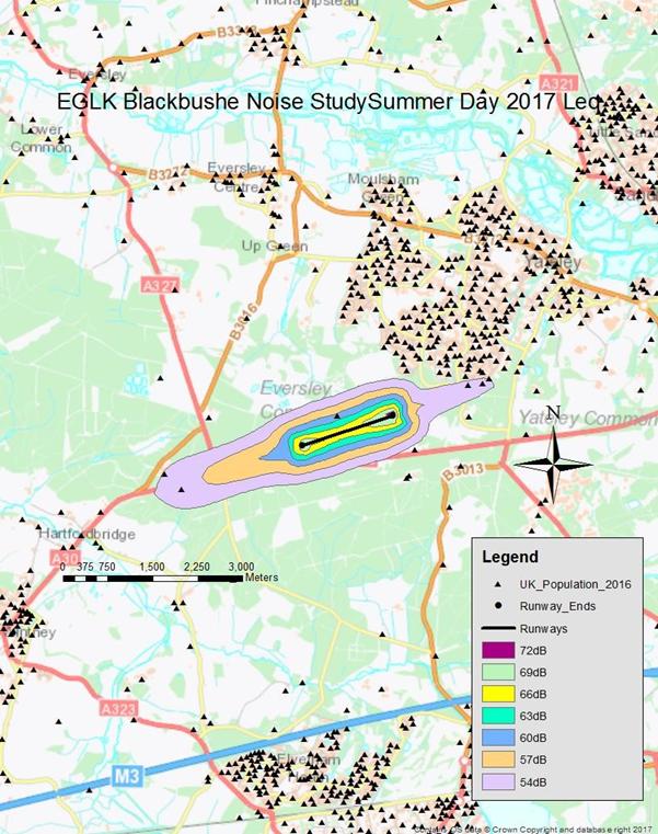 Figure 5 - Blackbushe Airport summer day 2016 Leq