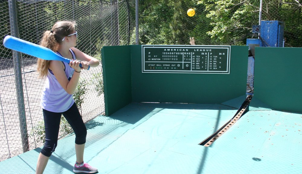 - Sluggers aged 8 and younger can blast balls over the Green Monster!