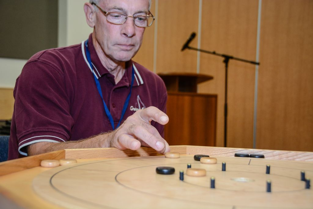 Crokinole and Skip-Bo