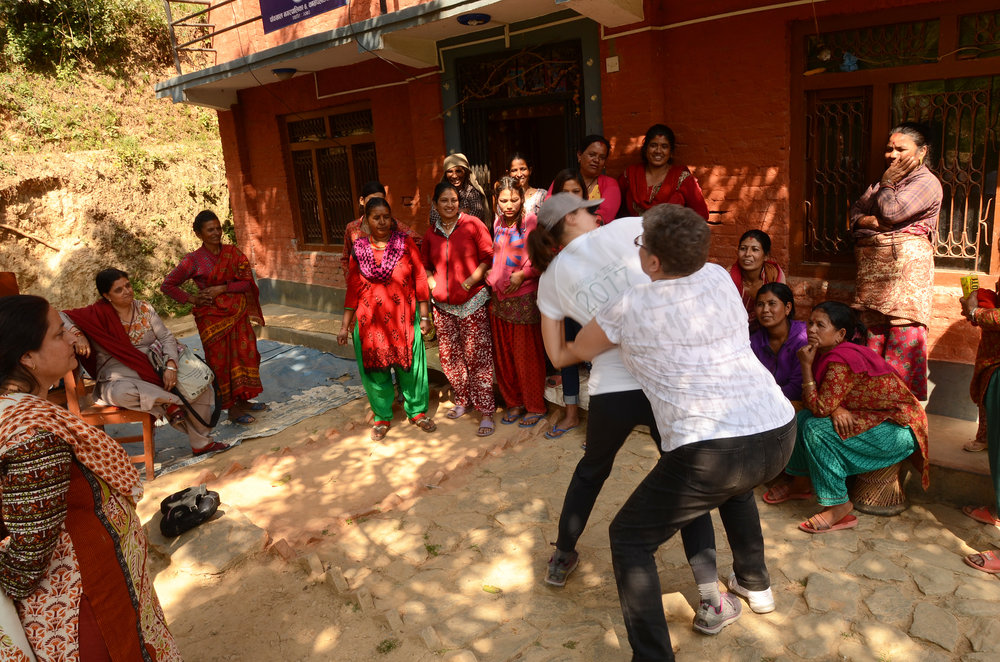 Teaching Self-Defense in Keragi, Nepal
