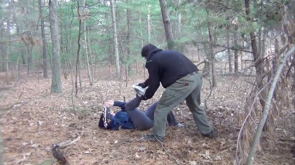 Falling to the ground can be very scary. However, with some training, you can learn how to protect yourself even in this scenario.  Photo credit: Alpha Krav Maga Boston and Robert McDonald