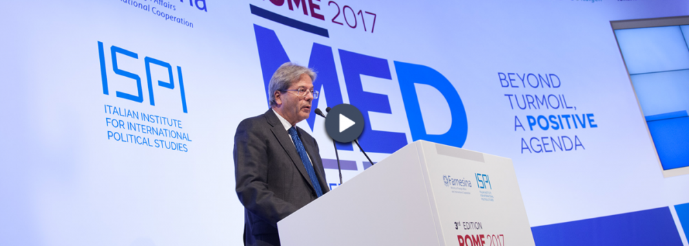 CLOSING SESSION   Paolo Gentiloni, President of the Council of Ministers of Italy, and Angelino Alfano, Minister of Foreign Affairs and International Cooperation, concluded the third edition of RomeMed, highlighting the main results of the meeting.