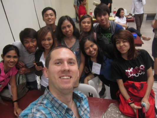 Teaching a group of university students in rural Santa Rosa, Philippines - the area's first ever startup event.