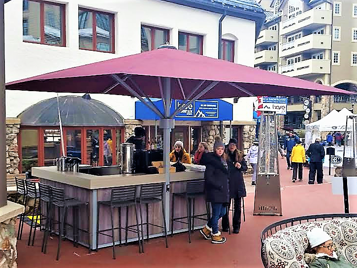 Mobile Bar - The UmbrellabarsUSA Mobile Bar is available for purchase or rent. Quick and easy to unload and set up, it is fully