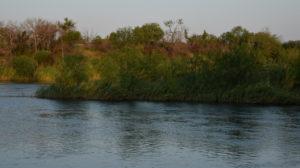 The Rio Grande, looking south towards Mexico.