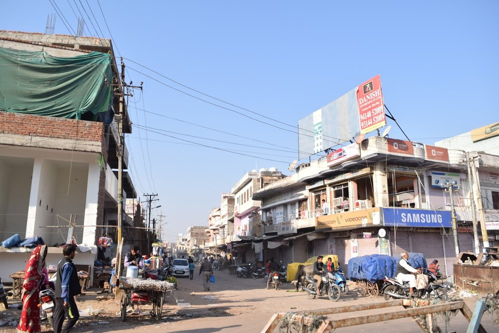 Typical street scene in north-central India