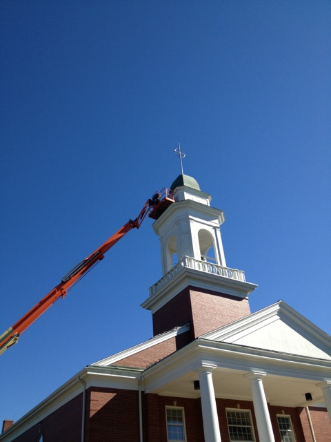 Paint Church steeple