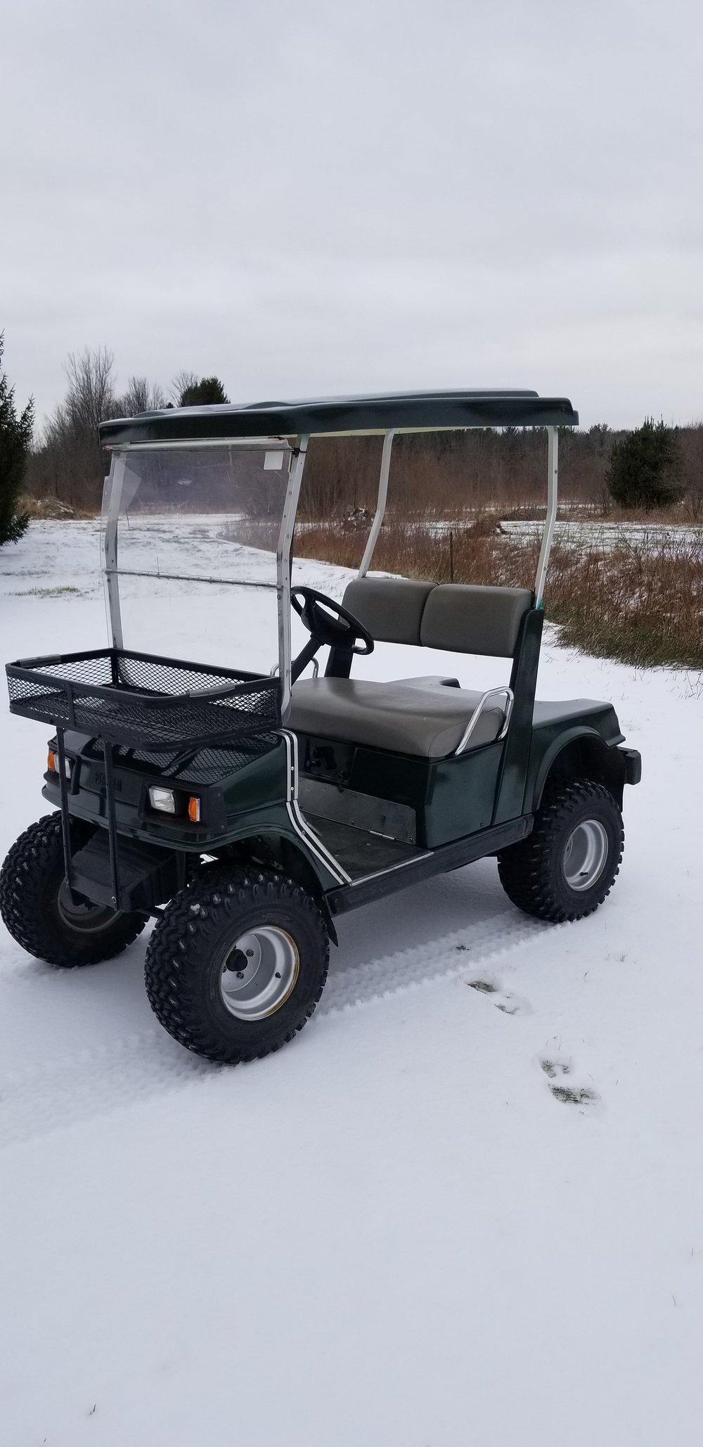 Paint golf cart