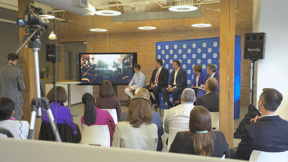 OUR SOLUTION   GE Foundation, The Attorney General Maura Healey and Epicenter Experience partnered to create Project Here to address the goals above. The People Platform™became the foundation for the mobile experience. Middle school students would interact with content, engage activities and access substance prevention resources in real-time via the mobile app. Students are rewarded for their participation and advancement with opportunities to attend local sports, concerts and events (e.g. Patriots, Red Sox, Celtics, LiveNation).