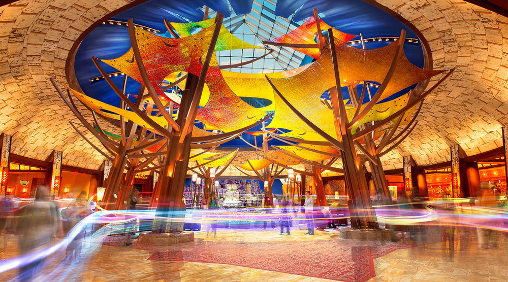THE RESULTS   The Mohegan Sun 20th Anniversary app was downloaded 5,000+ times, the conversion rate on notifications was 84% and engagement with the content from users was 3-4 times per session. Through a connected device, guests are rewarded with custom experiences, upgrades, access to special events and points for sharing their opinions and preferences. The first photograph posted in the content feed, for example, was viewed and shared over 600 times , proving that there was a loyal audience both on location and around the country , and that they were eager to engage with the destination as a lifestyle.