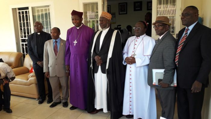 Leaders of Inter Religious Council of Uganda (IRCU) (Photo by: Campus Bee)
